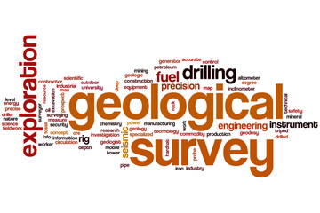 Geological survey word cloud