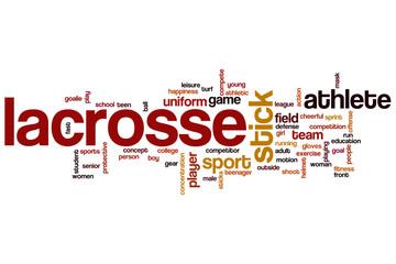 Lacrosse word cloud