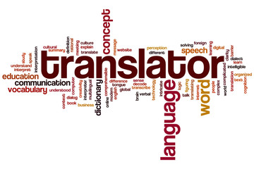 Translator word cloud