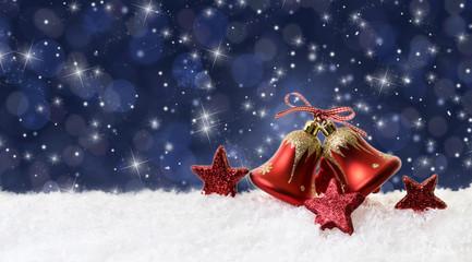 weihnachten hintergrund glocken nacht