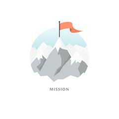 Mission. Vector illustration.