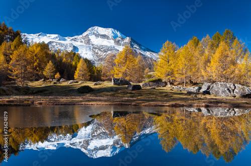 Papiers peints Alpes Le lac du Monal
