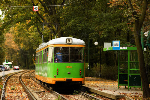 tram in Poznan, Poland