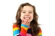 Kleines Mädchen lacht glücklilch