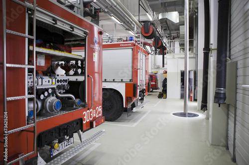 Modern fire station in Poznan. - 73625214