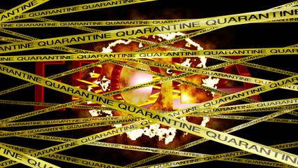 Microscopic Ebola Virus Behind Quarantine Signs Sinister BG