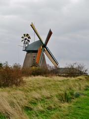 Mühle in Nebel auf Amrum