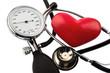 Blutdruckmesser und Herz