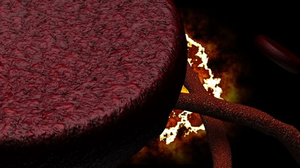 Microscopic Ebola Virus with Sinister Background 3D Animation