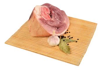 Piece of raw ham