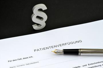 Patientenverfügung, Paragraph, Alter, Gesetz, Demenz