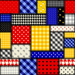 Patchwork in cubism style