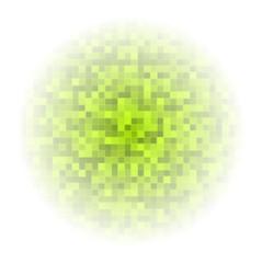 green-mosaic-squares-background-fog