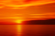 Blurred sunset in red color - 73627023