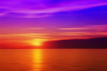 Blurred sunset in purple color