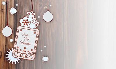xmas coupon with German Merry Christmas sign