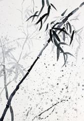 Bamboo in the rain