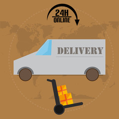 Car Delivery With World Map