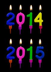 Burning candles 2014, 2015. New year, Jesus birthday etc.