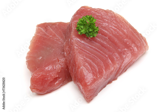 Fotobehang Vis Raw Tuna Steaks