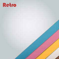 Abstract retro stripe background