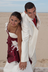 Couple mariés amoureux