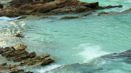 Turquoise water stream