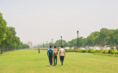 Road to the India Gate. New Delhi
