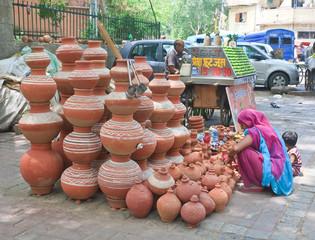 Street in the city of Jodhpur. Rajasthan, India