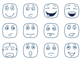 Abstract square smileys