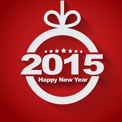 """Christmas ball with text inside """"Happy New Year 2015"""""""