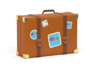 Suitcase with flag of fiji