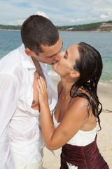 Couple mariés sensuels
