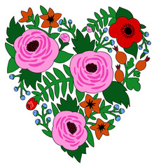 Heart decorative from flowers3
