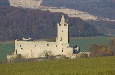 Burgruine Rudelsburg an der Saale (1171, Sachsen-Anhalt)