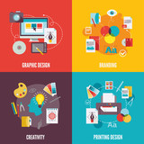 Fototapety Graphic design icons flat