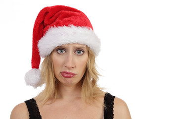 femme s'ennuyant à Noël