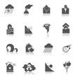 Natural disaster icons black - 73630833