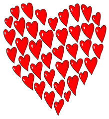 Heart decorative from hearts