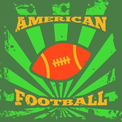 American football rugby poster
