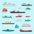 Ships and boats set - 73631048