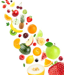 Fresh healthy fruits collection