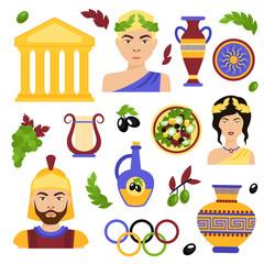Greece decorative set