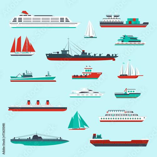 Ships and boats set - 73631048