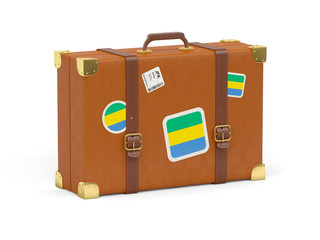 Suitcase with flag of gabon
