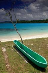 Port Olry-Green canoe-Vanuatu