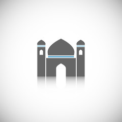 Mosque icon isolated