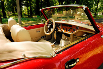 automoble, car, oldtimer, red, lifestyle, weekend