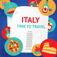 Italy background template