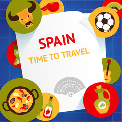 Spain background template